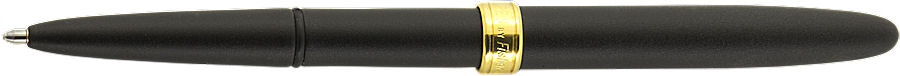 800B Matte Black Bullet with Gold Band