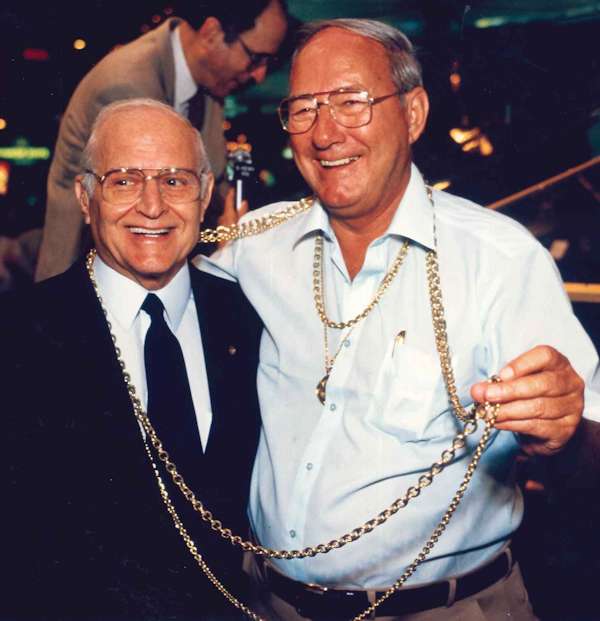 Paul & Mel Fisher with a Chain of Atocha Gold